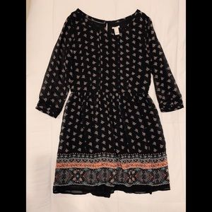 F21 bohemian dress